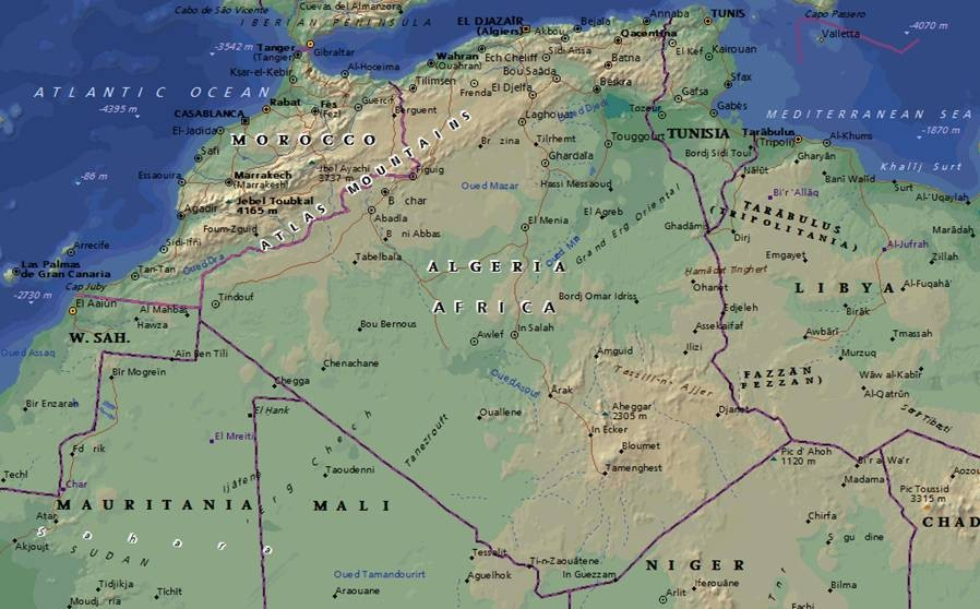 maghreb map Gallery