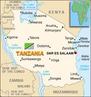 Map Of Tanzania - Map of tanzania