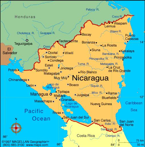 Map Of Nicaragua - Nicaragua map