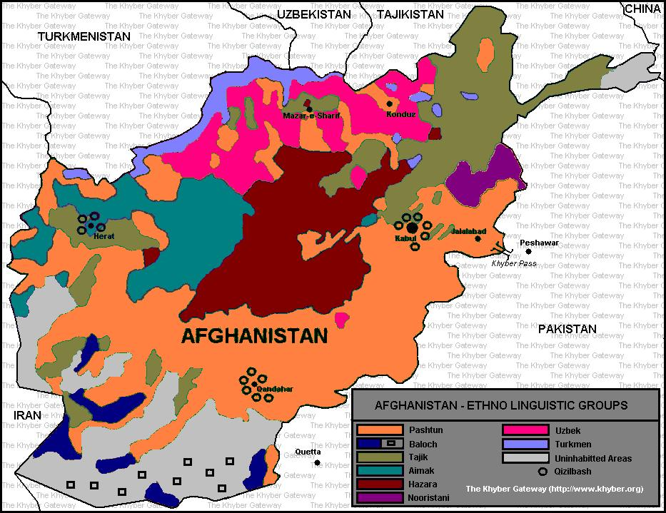 Afghanistan—Ethno-linguistic Groups