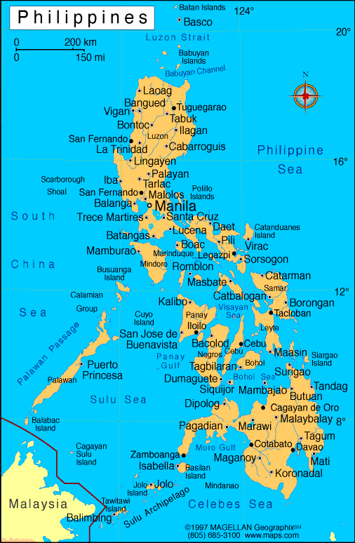 Political Map Of The Philippines - What is a political map