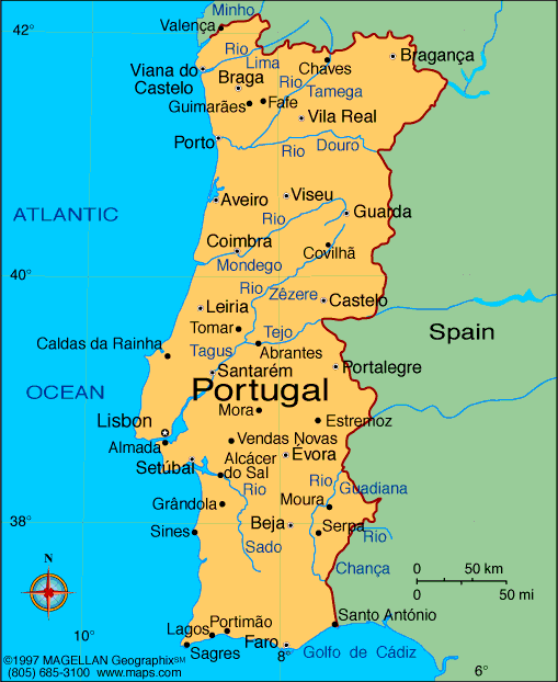 Map Of Portugal - Portugal map