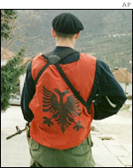 [ Ethnic Albanian rebel, March 2001 ]