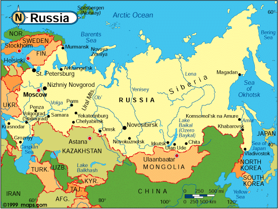 Map Of The Russian Federation - Russian map